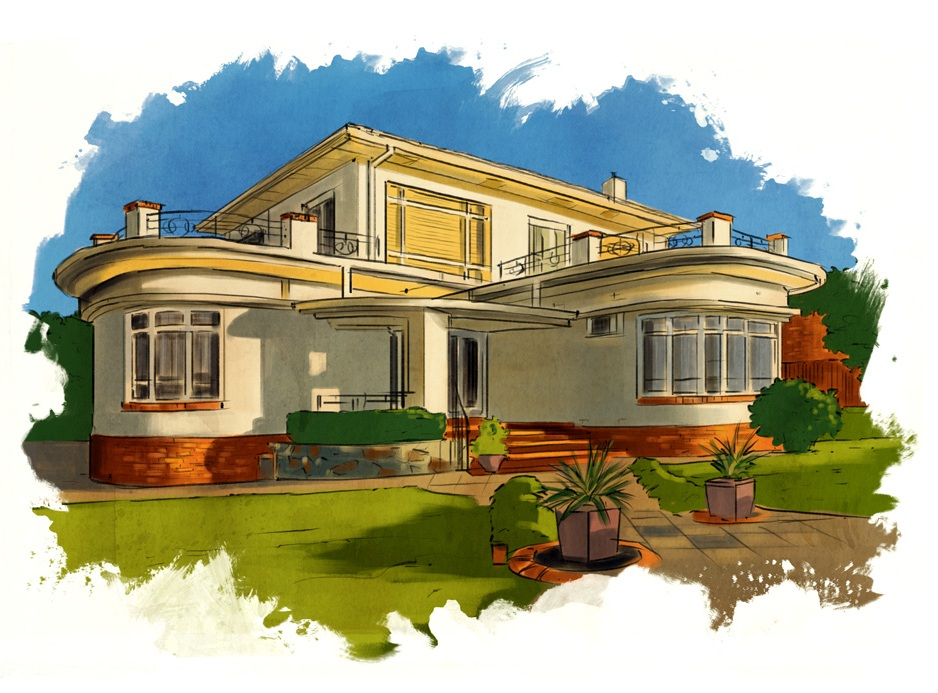 Art deco style houses australia house and home design for Art deco house plans
